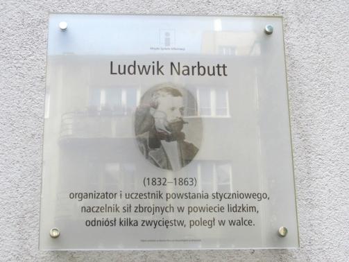 Tablica_Ludwik_Narbutt_Warszawa_2021